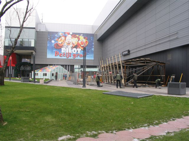 Steel construction of the Children's City - Ušće shopping Mall in Belgrade